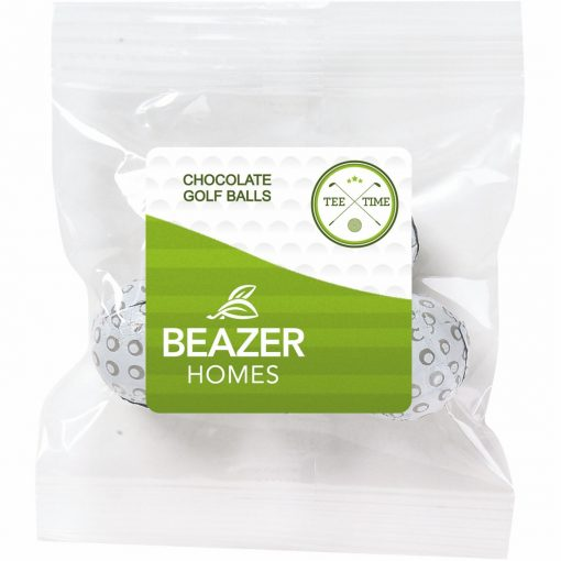 1 oz Snack Bag - Chocolate Golf Balls