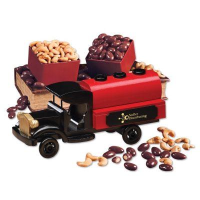 1920-Era Tank Truck with Chocolate Almonds & Extra Fancy Jumbo Cashews