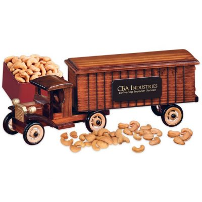 1930-Era Tractor-Trailer Truck with Jumbo Cashews