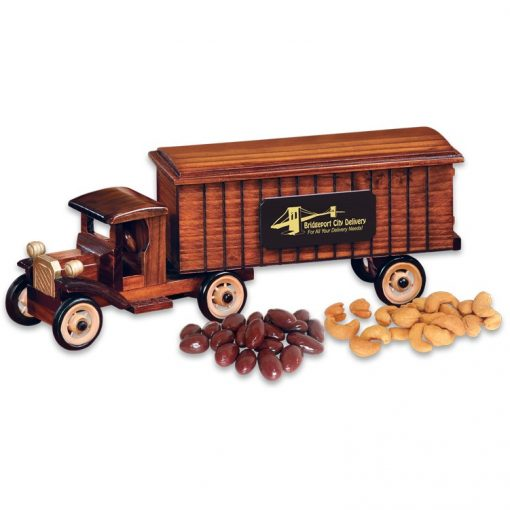 1930-Era Tractor-Trailer with Chocolate Almonds & Cashews