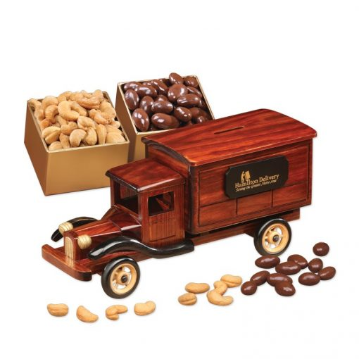 1935-Era Delivery Truck with Chocolate Almonds & Jumbo Cashews