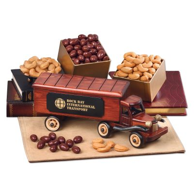 1940-Era Tractor-Trailer Truck with Chocolate Almonds & Extra Fancy Jumbo Cashews