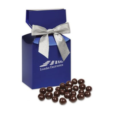 Barrel-Aged Bourbon Cordials in Metallic Blue Gift Box