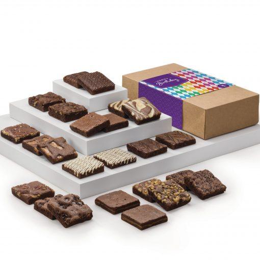 Birthday Double Dozen Fairytale Brownie (Kraft Box w/ Colorful Band)