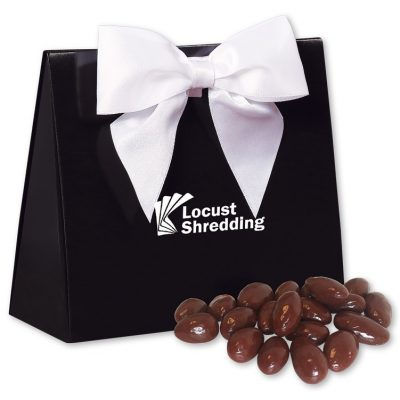 Chocolate Almonds in Black & White Triangular Gift Box