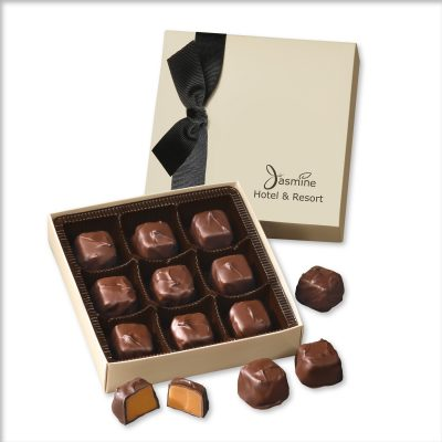 Chocolate Elegance with Barrel-Aged Bourbon Caramels