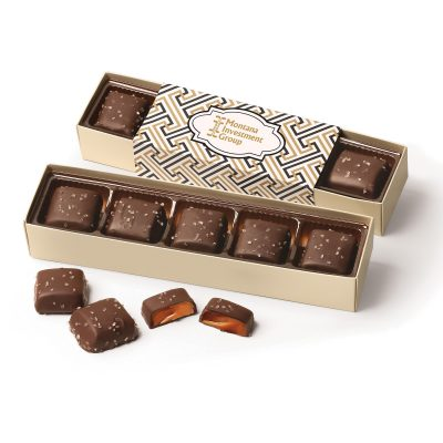 Chocolate Sea Salt Caramels Flight with Zigzag Wrap