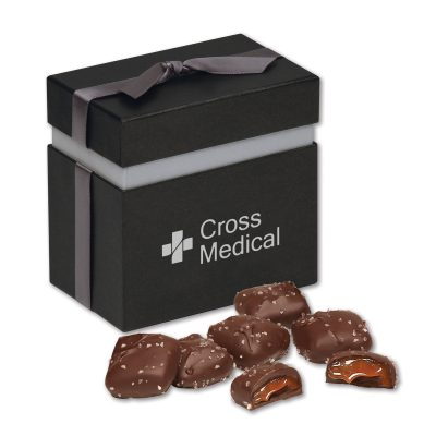Chocolate Sea Salt Caramels in Elegant Treats Gift Box