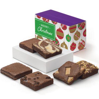 Christmas Brownie 1/2 Dozen in Treasure Box/Band