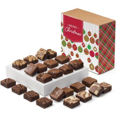Christmas Morsel 24 Brownie (Brown Box w/ Christmas Tree Band)