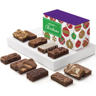 Christmas Sprite Dozen Brownies (Purple Treasure Box w/Band)