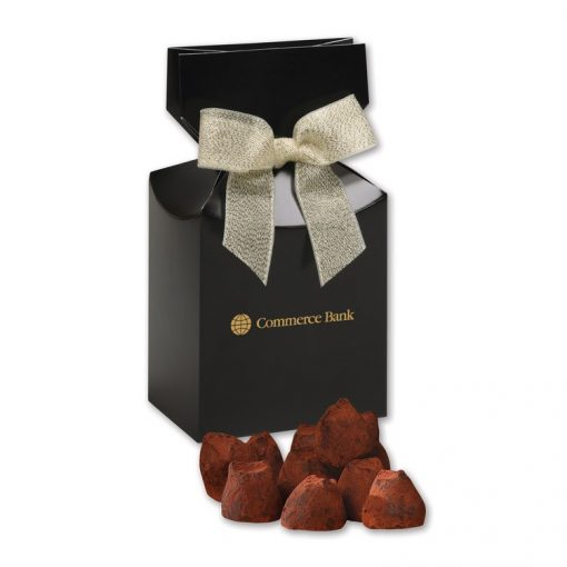 Cocoa Dusted Truffles in Black Gift Box