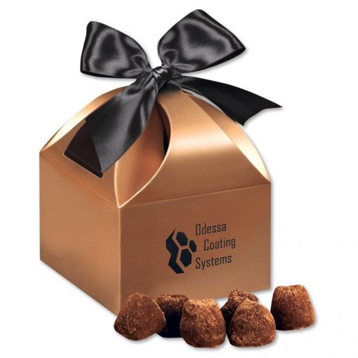 Cocoa Dusted Truffles in Copper Gift Box