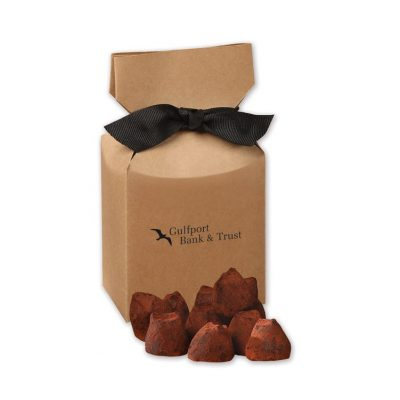 Cocoa Dusted Truffles in Kraft Gift Box