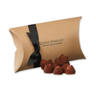 Cocoa Dusted Truffles in Kraft Pillow Pack Box