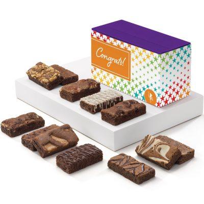 Congratulations Sprite Dozen Brownies in Treasure Box