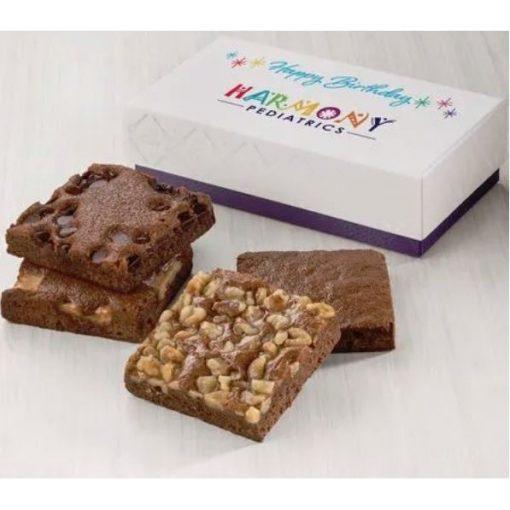 Custom Birthday Occasion 4-Brownie Favor