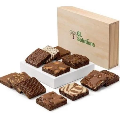 Custom Wooden Box Brownie Dozen