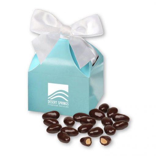 Dark Chocolate Almonds in Robin's Egg Blue Gift Box