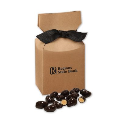 Dark Chocolate Sea Salt Cashews in Kraft Premium Delights Gift Box