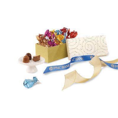 Decadent Artisan Truffles Gift Box White-Gold