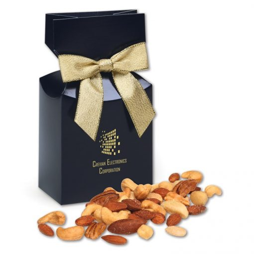 Deluxe Mixed Nuts in Navy Gift Box