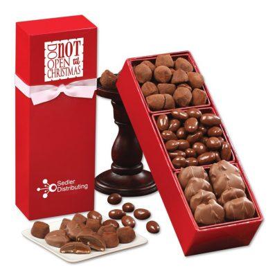 """""""Do Not Open 'til Christmas"""" Chocolate Assortment"""