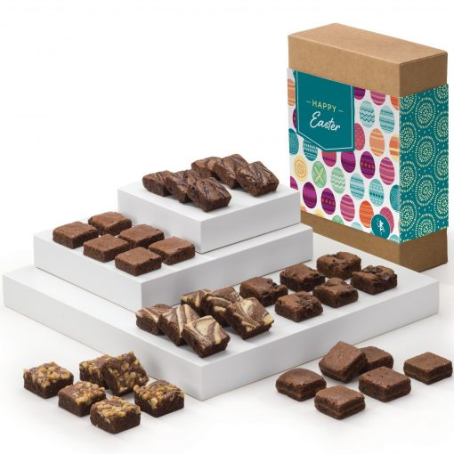Easter Morsel 36 Brownie Box w/ Happy Easter Band