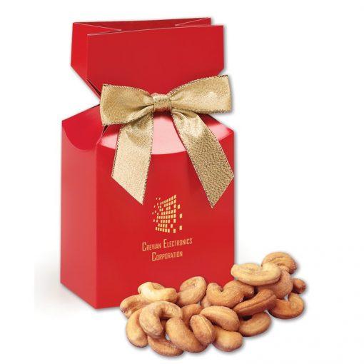 Extra Fancy Jumbo Cashews in Red Gift Box