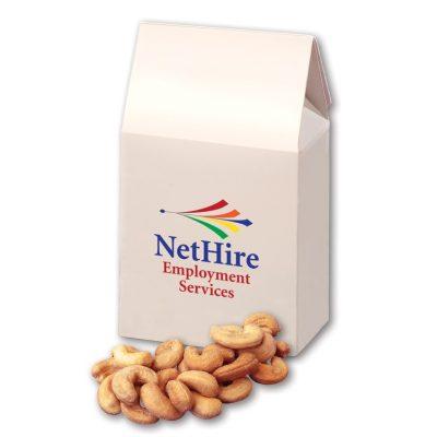 Extra Fancy Jumbo Cashews in White Gable Box