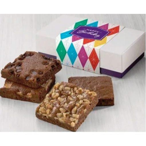 Fairytale Birthday 4-Brownie Favor in White/ Purple Box