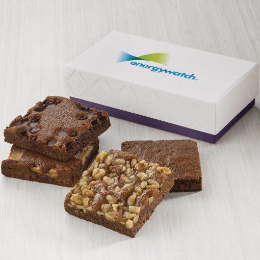 Fairytale Brownie Custom 4-Brownie Favor in White/ Purple Box (Full Color)