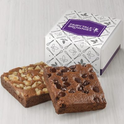 Fairytale Brownies 2-Brownie Favor (White/ Purple Box)