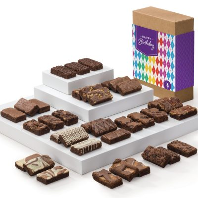 Fairytale Brownies Birthday Sprites 36 (Brown Box w/ Colorful Band)