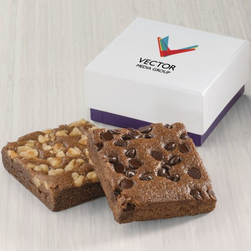 Fairytale Brownies Custom 2-Brownie Favor - Full Color (White/ Purple Box)
