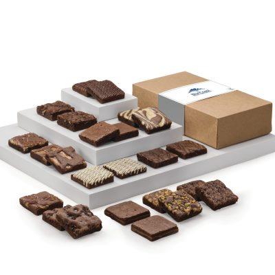 Fairytale Brownies Custom Double Dozen in Kraft Gift Box