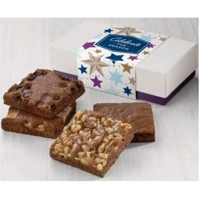 Fairytale Celebrate the Season 4-Brownie Favor in White/ Purple Box