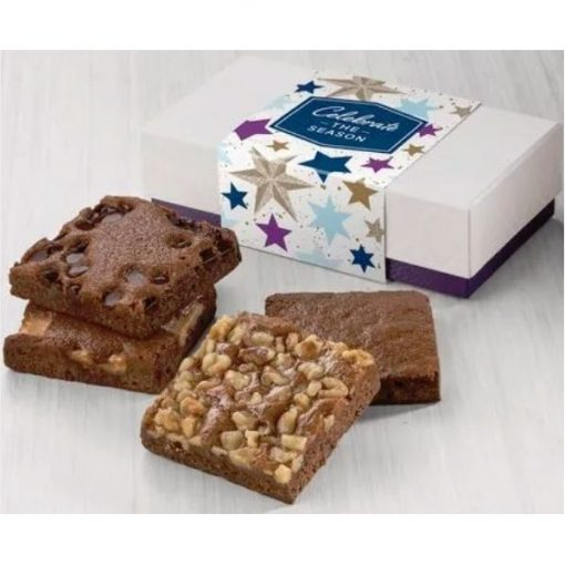 Fairytale Celebrate the Season 4-Brownie Favor in White/ Purple Box