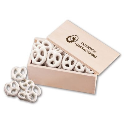 Frosted Pretzels in Wooden Collector's Box