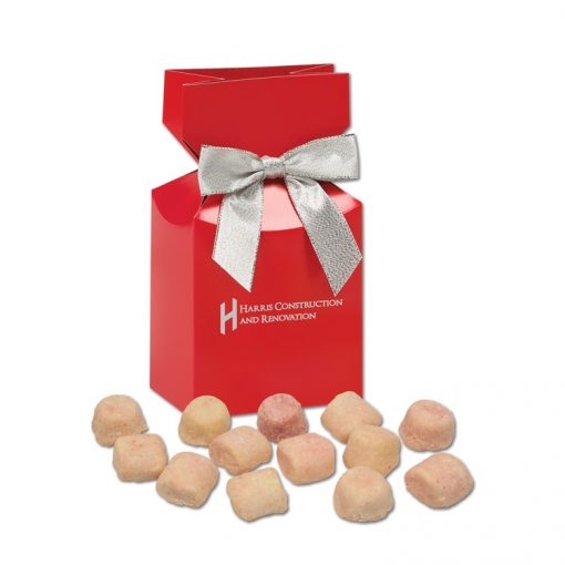 Gourmet Bite-Sized Mixed Berry Tea Cookies in Red Premium Delights Gift Box