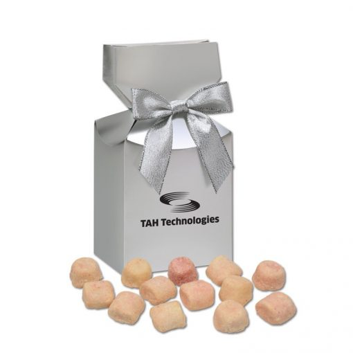 Gourmet Bite-Sized Mixed Berry Tea Cookies in Silver Gift Box