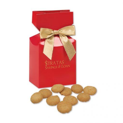 Gourmet Bite-Sized Snickerdoodle Crisp Cookies in Red Premium Delights Gift Box