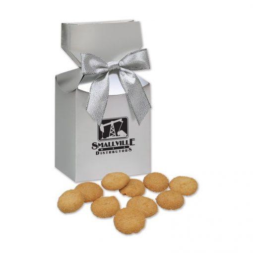 Gourmet Bite-Sized Snickerdoodle Crisp Cookies in Silver Gift Box