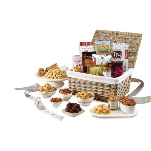 Gourmet Delights Keepsake Basket - Natural