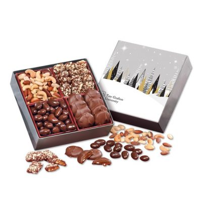 Gourmet Holiday Gift Box with Winter Trees Sleeve