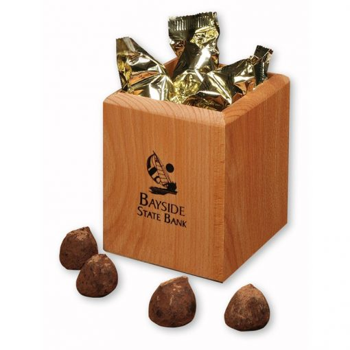 Hardwood Pen & Pencil Cup with Cocoa Dusted Truffles