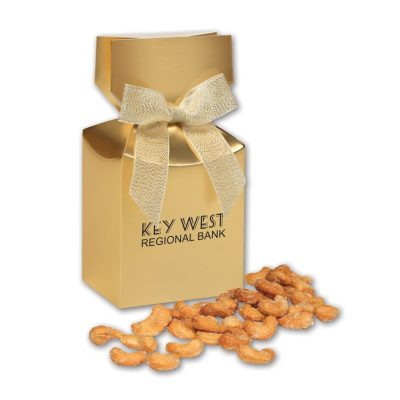 Honey Roasted Cashews in Gold Gift Box