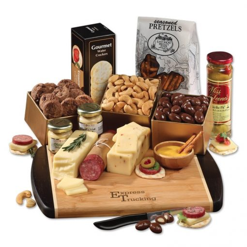 Java Bamboo Board with Shelf-Stable Gourmet Selections