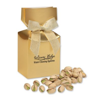 Jumbo California Pistachios in Gold Gift Box