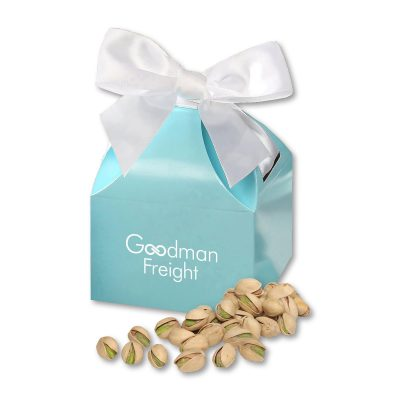 Jumbo California Pistachios in Robin's Egg Blue Classic Treats Gift Box